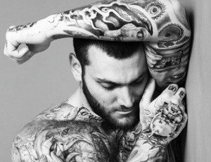 Gorgeous inked man